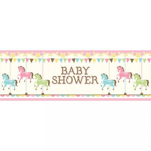 Bannière Baby Shower Manège (1,52 m)