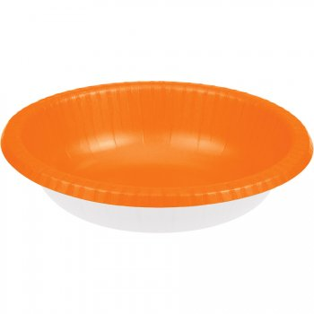 20 Assiettes Bols Orange (22 cm)