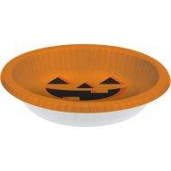 20 Assiettes Bowls Citrouille Halloween (22 cm)