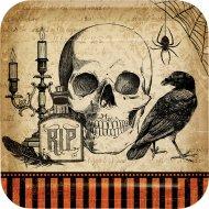 8 Assiettes Halloween Vanité