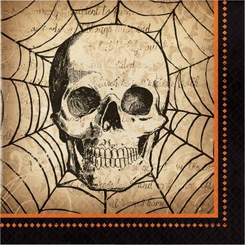 16 Serviettes Halloween Vanité