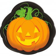 Plateau Halloween Citrouille (35 cm)