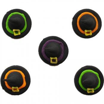 5 Chapeaux de sorcière 3D (2,5 cm) - Sucre