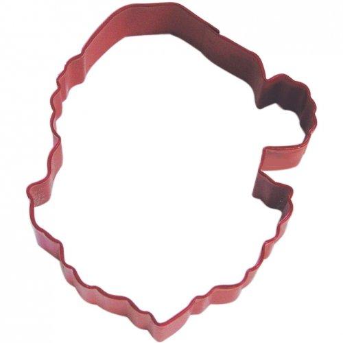 Emporte-pièce Tête Père Noel  (9,5 cm) - Rouge