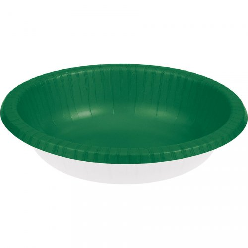 20 Assiettes Bols Vert Sapin (18 cm)