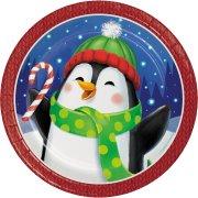 8 Petites Assiettes Bonhomme et Pingouin