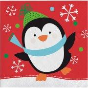 16 Petites Serviettes Noël Fun