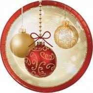 8 Petites Assiettes Noël Elégance