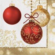16 Serviettes Noël Elégance