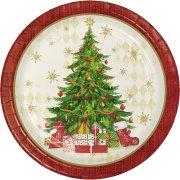 8 Assiettes Sapin de Noël