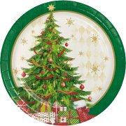 8 Petites Assiettes Sapin de Noël
