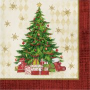 16 Serviettes Sapin de Noël