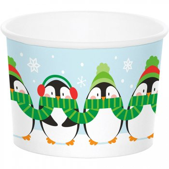 6 Pots à Glace Pingouins