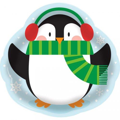 Grand Plateau Pingouin en Plastique (36 cm)