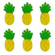 6 Ananas 2D (4 cm) - Sucre