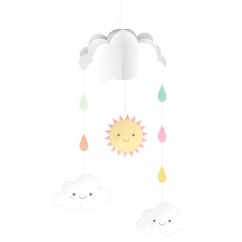 Suspension Mobile Nuages Baby (95 cm)