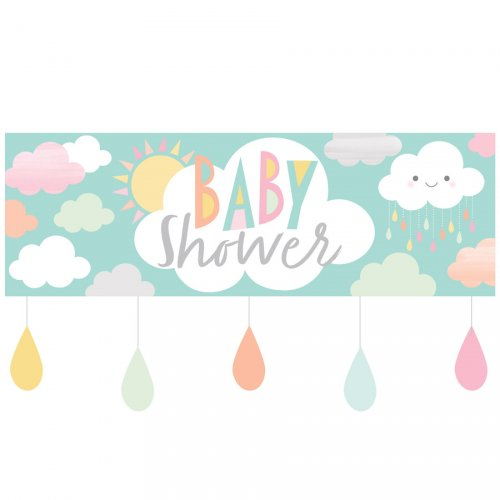 Bannière Nuages Baby Shower (1,52 m)