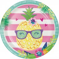 8 Assiettes Ananas Party