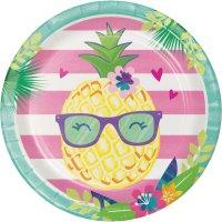 Contient : 1 x 8 Assiettes Ananas Party