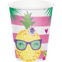 Contient : 1 x 8 Gobelets Ananas Party