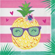 16 Serviettes Ananas Party
