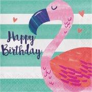 16 Serviettes Ananas Party Happy Birthday