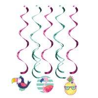 Contient : 1 x 5 Guirlandes Spirales Ananas Party