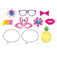 Contient : 1 x Kit 10 Photo Booth Ananas Party