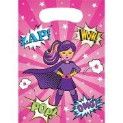 8 Pochettes Cadeaux Super Birthday Girl