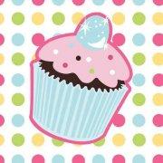 16 Petites Serviettes Cupcake Friandise