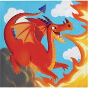 16 Petites Serviettes Dragon