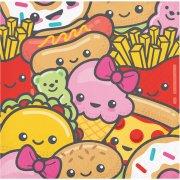 16 Petites Serviettes Kawaïï Food
