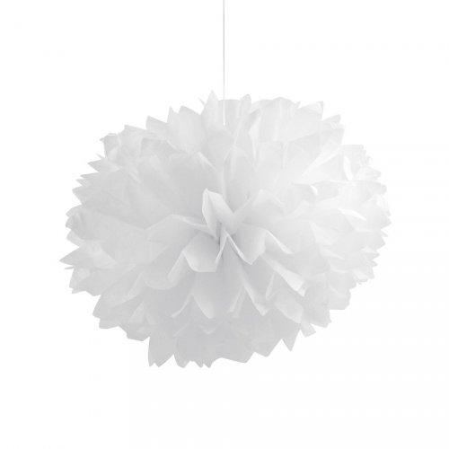 3 Boules Papier Frou-frou Blanc (40 cm)