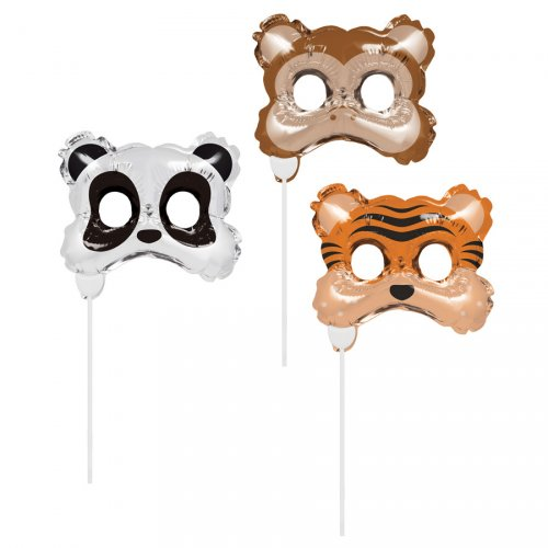 3 Photo Booth Ballons Animaux Sauvages