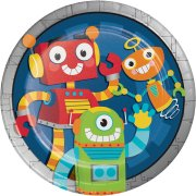 8 Assiettes Robot Party