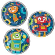 8 Petites assiettes Robot Party