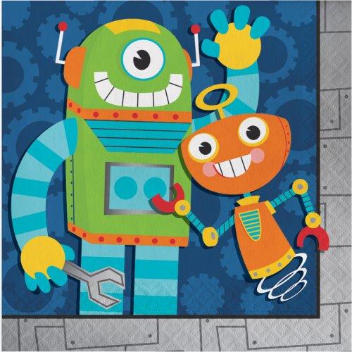 16 Serviettes Robot Party