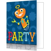 8 invitations Robot Party