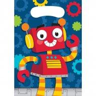 8 Pochettes Cadeaux Robot Party