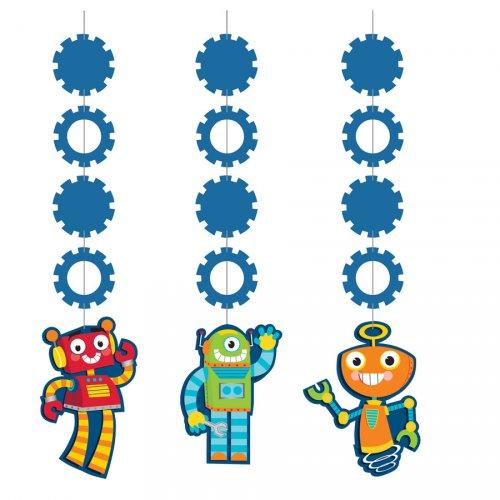3 Guirlandes Verticales Robot Party