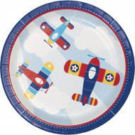 8 Assiettes Avion Compagnie
