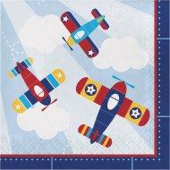 16 Serviettes Avion Compagnie