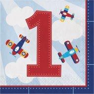 16 Serviettes Avion Compagnie 1 an