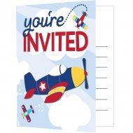 8 invitations Avion Compagnie