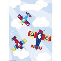 Contient : 1 x 8 Pochettes Cadeaux Avion Compagnie