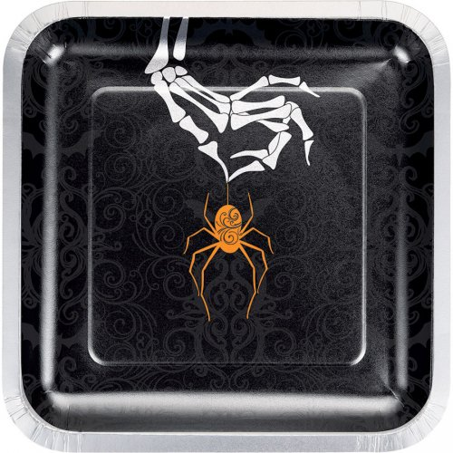 8 Assiettes Wicked Spider