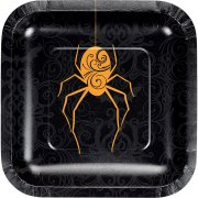 8 Petites Assiettes Wicked Spider