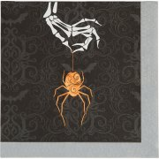 16 Petites Serviettes Wicked Spider