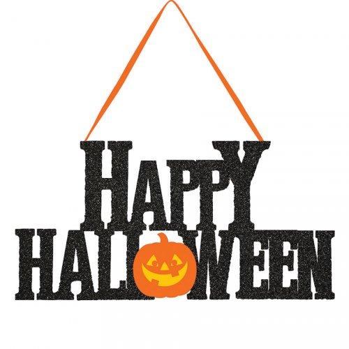 Décor Glitter Happy Halloween (27 cm)