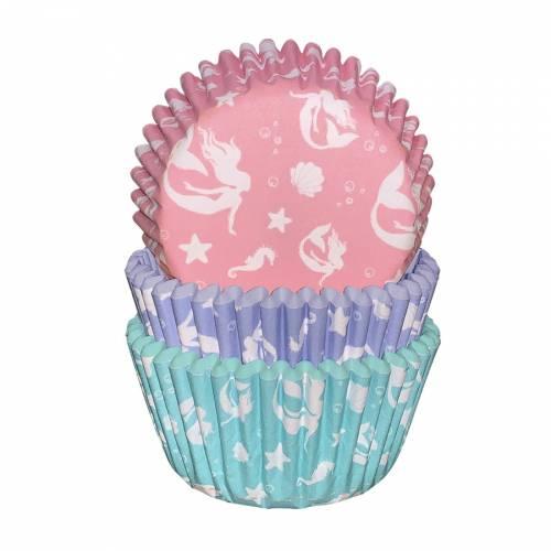 75 Caissettes à Cupcakes Sirène iridescente